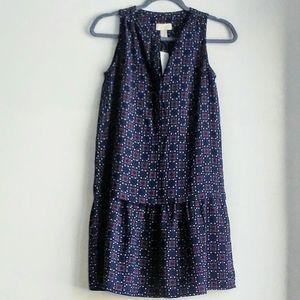 Loft sleeveless smock dress